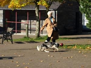 Granny and dog, Llanberis